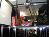 Kahne Racing 2007 T&E 53' Semi Sprint Trailer - Interior View - Upper Level Storage with Trolley System