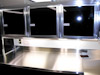 Kahne Racing T&E 53' Semi Sprint Trailer - Interior View - Storage Cabinets Over Parts Washer